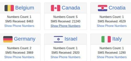 Tổng hợp các Website nhận SMS Online để xác nhận tài khoản
