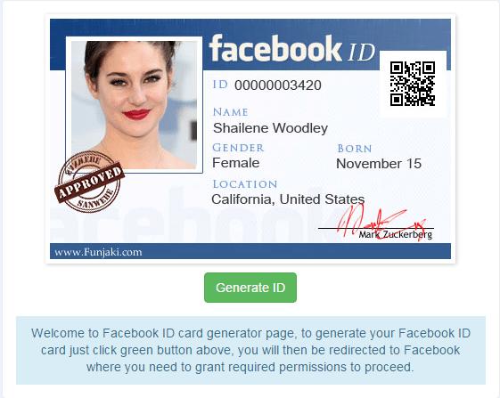 1 2 - Hướng dẫn tạo Facebook ID Card