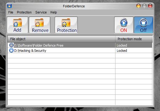 Phần mềm bảo vệ Thư mục và Tập tin FolderDefenceFree