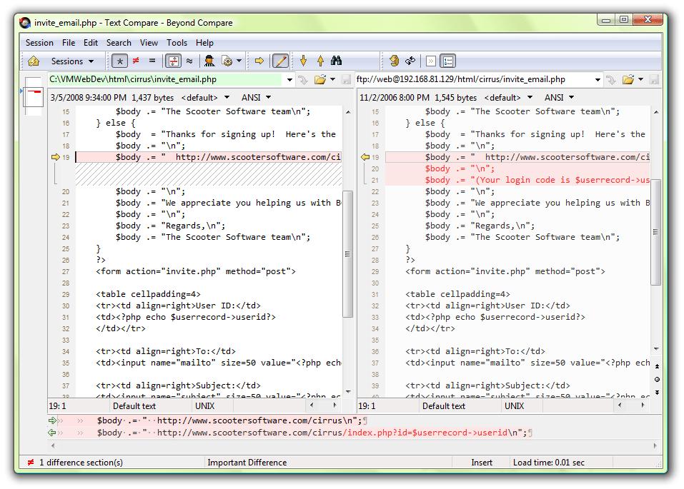 Phần mềm so sánh thư mục, tập tin Beyond Compare