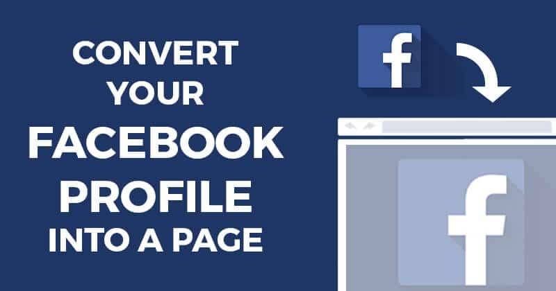 Chuyển Facebook cá nhân thành Fanpage 1