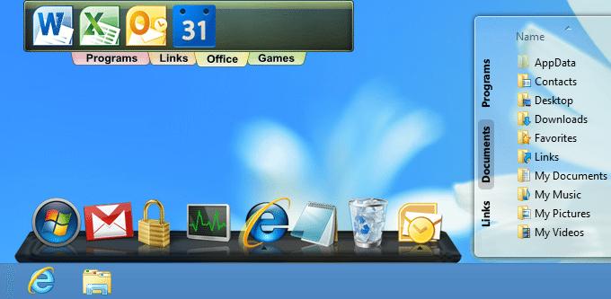 Tạo Thanh Dock làm đẹp cho Desktop 8