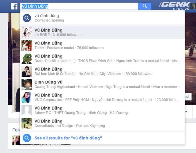 1 5 - Hướng dẫn đổi tên Facebook người khác giống Vũ Đình Dũng