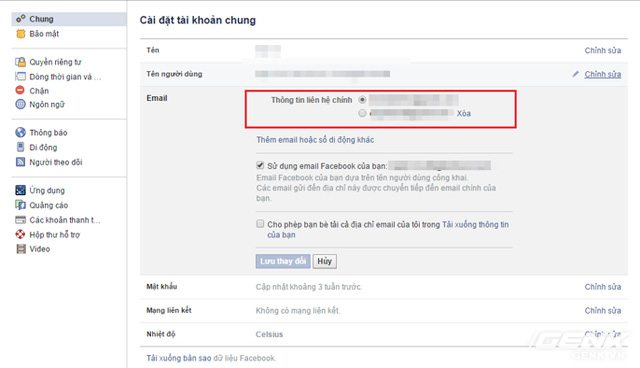 10 - Hướng dẫn đổi tên Facebook người khác giống Vũ Đình Dũng