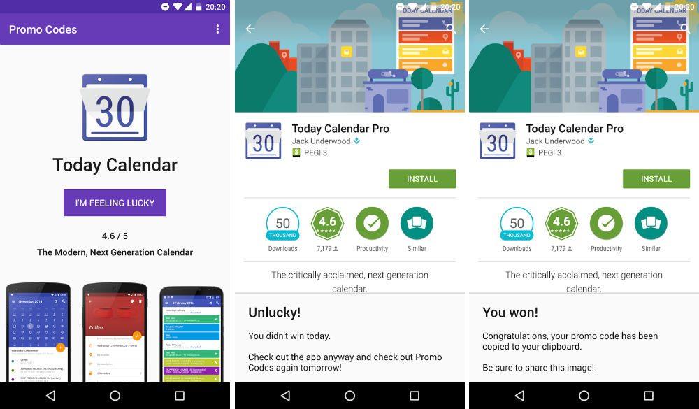 Promo Codes - Ứng dụng tìm App Bản quyền miễn phí trên Android