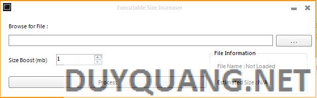 aec2dfe3dffd2f3fcb3bf60752a5b53f - PUMPER - công cụ bơm nhằm thay đổi dung lượng tập tin exe !