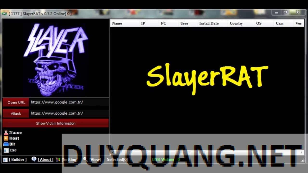 maxresdefault - SlayerRAT v 0.7.2 Trojan điều khiển máy tính 2016