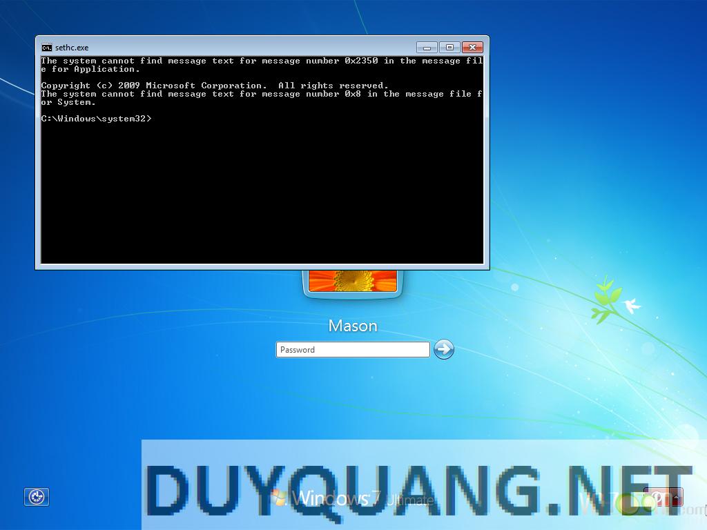 10 - Hướng dẫn Hack quyền Admin khi dùng máy tính sử dụng Windows
