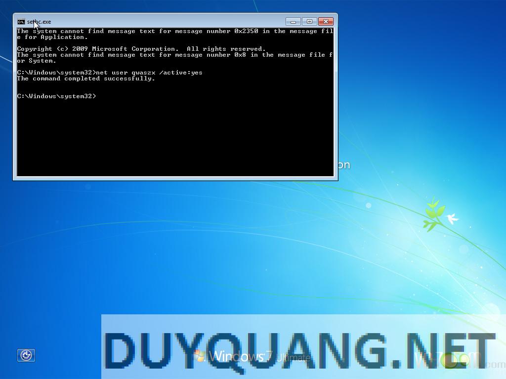 13 - Hướng dẫn Hack quyền Admin khi dùng máy tính sử dụng Windows