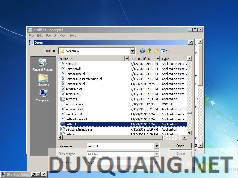8 - Hướng dẫn Hack quyền Admin khi dùng máy tính sử dụng Windows