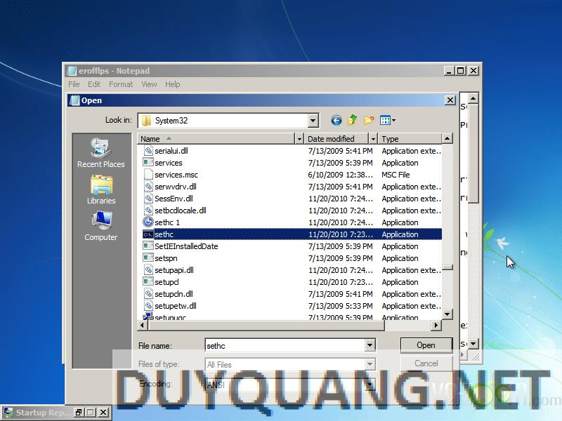 9 - Hướng dẫn Hack quyền Admin khi dùng máy tính sử dụng Windows