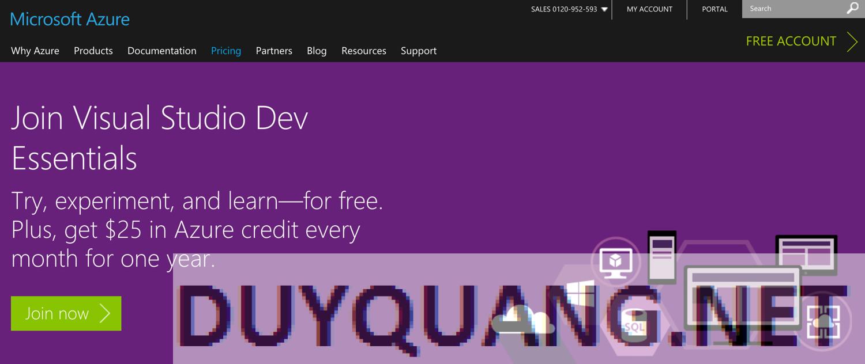 Hướng dẫn nhận 300$ từ Azure của Microsoft 1