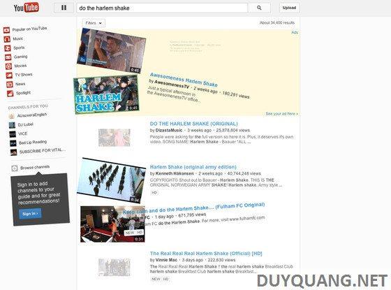 Tut làm cho YouTuBe và FaceBook nhảy Harlem Shake cực chất 7