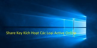 Share Key Windows và Office Active Online