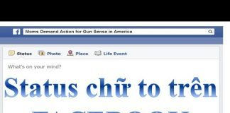 Mẹo viết Status Facebook chữ to nhỏ tùy ý 1