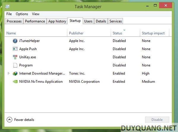 windows 5 - 9 bước tăng tốc quá trình khởi động Windows 8