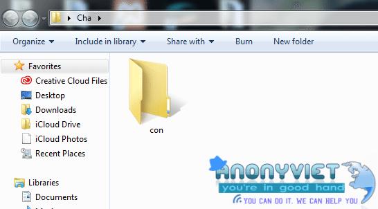 Mẹo Tạo thư mục không thể xóa trên Windows 6