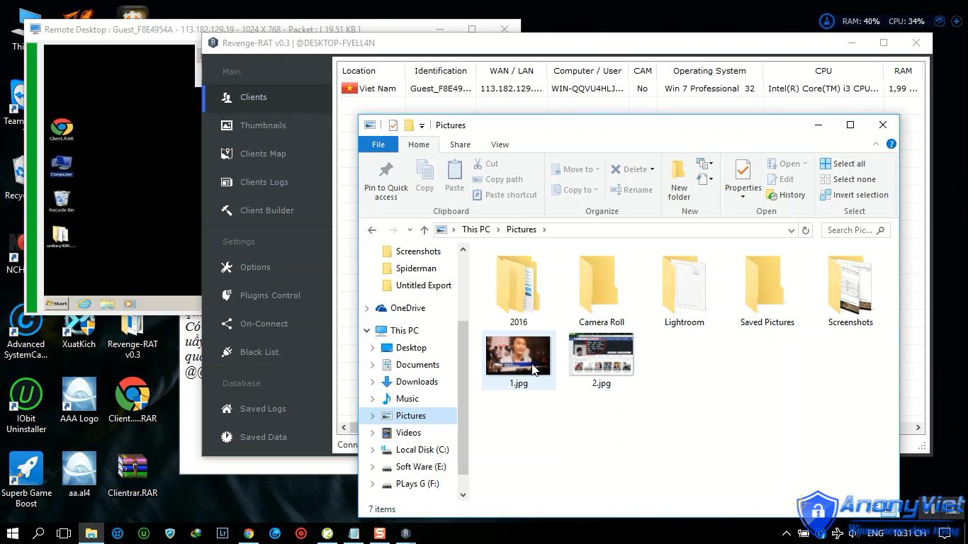 Revenge-RAT v3 xâm nhập máy tính cực khủng 2018 14