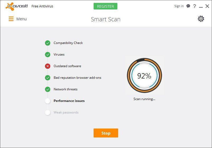 avast - TOP 9 Phần mềm diệt virus tốt nhất 2018