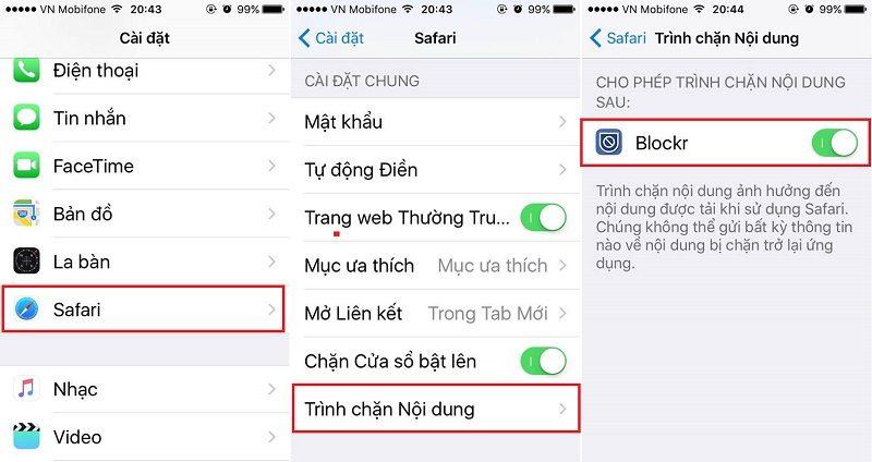 chanquangcao - Hướng dẫn chặn Quảng Cáo trên Iphone và Ipad