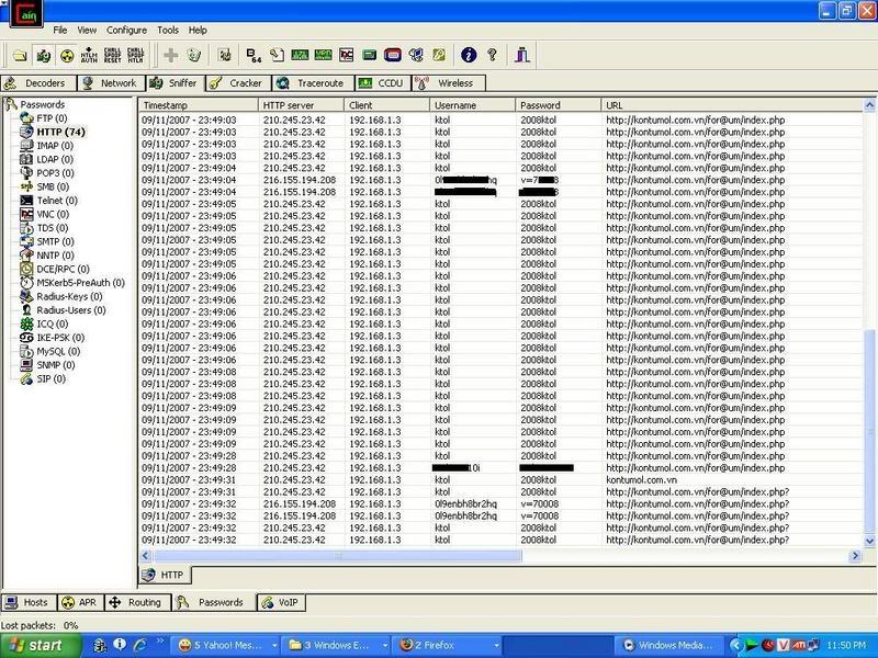 Hướng dẫn Sniff để hack Password trong mạng LAN Sử dụng Cain & Abel 2