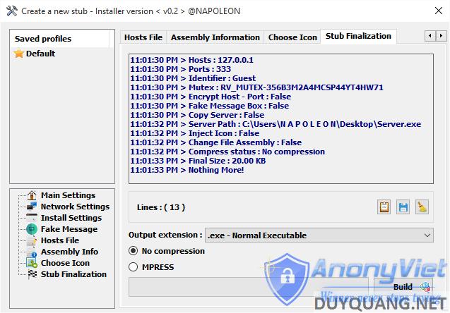 1 11 - [Update] Revenge-RAT v.0.2 chiếm quyền điều khiển máy tính người khác