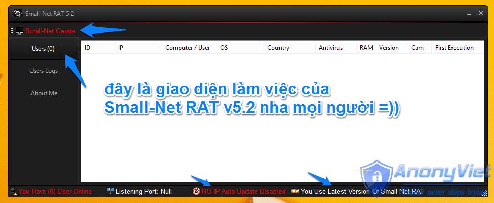 1 8 2 - Small-Net v5.2 -  Xâm nhập và điều khiển máy tính từ xa