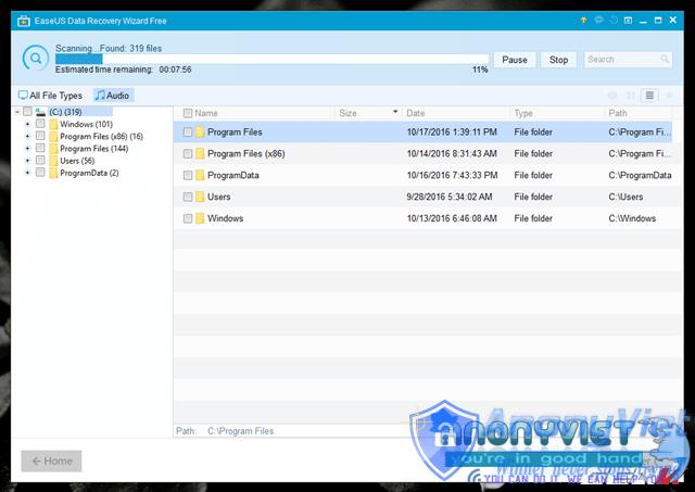 10 1476688477848 - Hướng dẫn khôi phục lại dữ liệu khi bị xóa hoặc Format