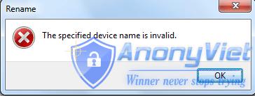 3 1 1 - Mẹo Tạo thư mục không thể xóa trên Windows