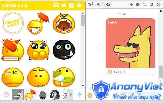 Hướng dẫn thêm Sticker Rồng Piakchu vào Facebook Messenger 12