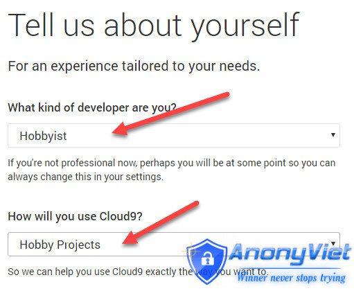 4 - Hướng dẫn đăng ký VPS miễn phí với Cloud9