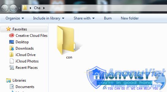 5 2 1 - Mẹo Tạo thư mục không thể xóa trên Windows