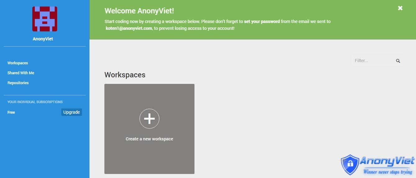 8 - Hướng dẫn đăng ký VPS miễn phí với Cloud9