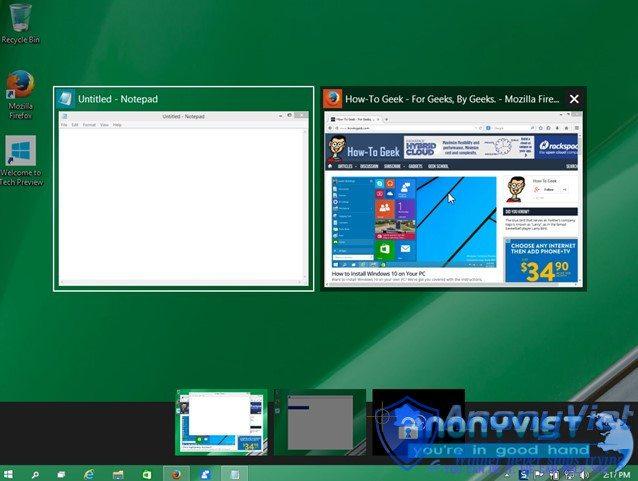 Alt Tab chon desktops ao trong windows 10 - Sử dụng Desktop ảo trong Windows 10 chuyên nghiệp