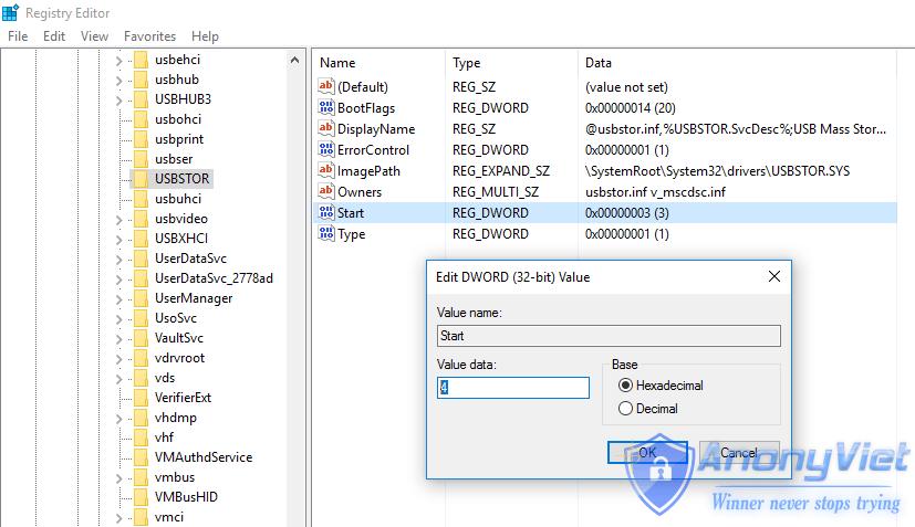 UsbStor Start - Chặn USB lạ sao chép dữ liệu quan trọng trên máy tính