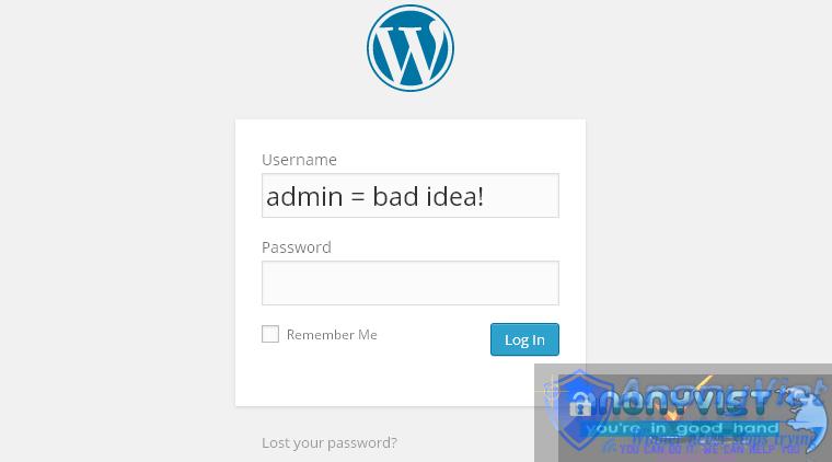 admin username 1 - Những Cách Bảo Mật WebSite Mã Nguôn Mở