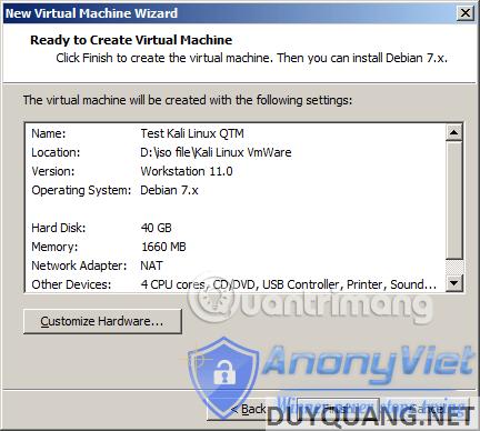 Cài đặt và sử dụng Kali Linux trên VmWare 86
