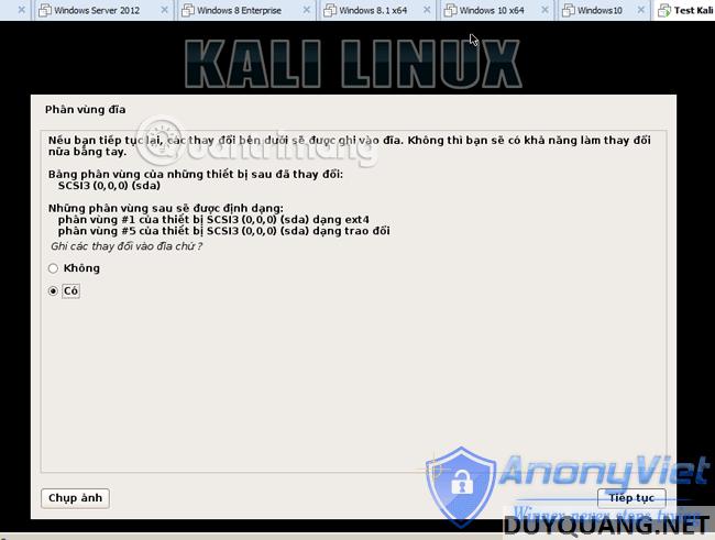 Cài đặt và sử dụng Kali Linux trên VmWare 99