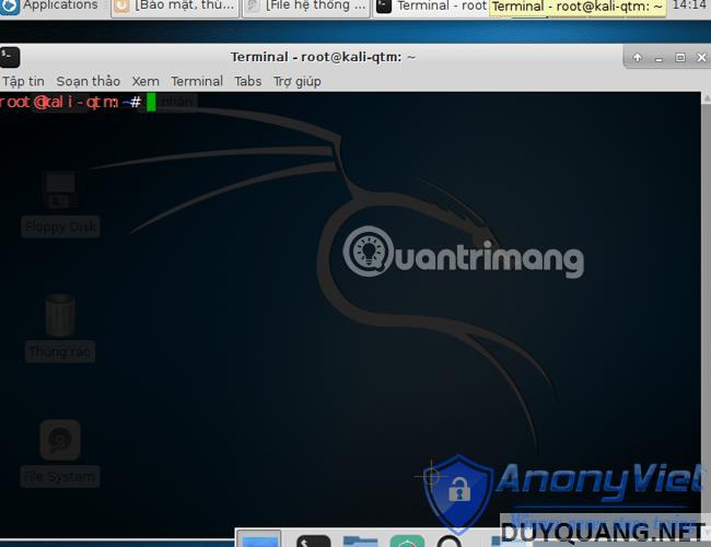 kali linux terminal - Cài đặt và sử dụng Kali Linux trên VmWare