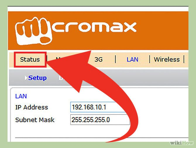 Mở trang Router status