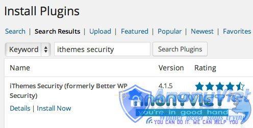 search ithemes security - Những Cách Bảo Mật WebSite Mã Nguôn Mở