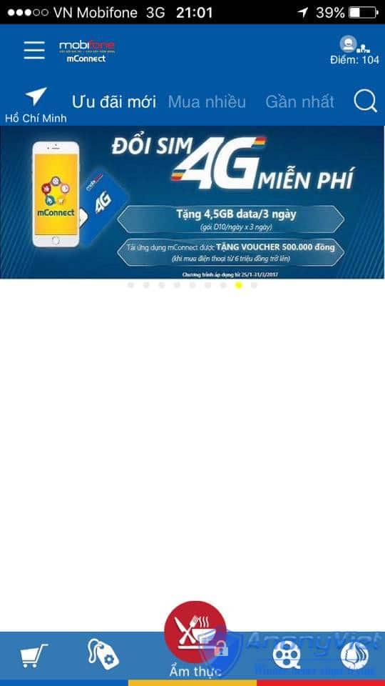 Cách lấy 3G/4G miễn phí gói D10 Mobifone cho 3 ngày 20