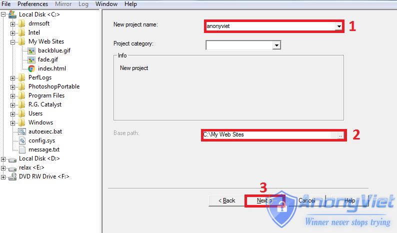 httrack1 - Cách sử dụng HTTrack để download toàn bộ website