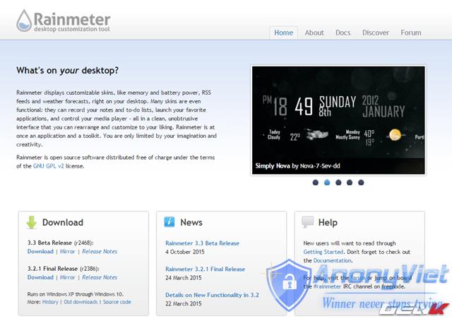 Hướng dẫn tự tùy biến giao diện Windows với Rainmeter 44