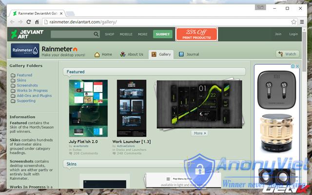 Hướng dẫn tự tùy biến giao diện Windows với Rainmeter 54