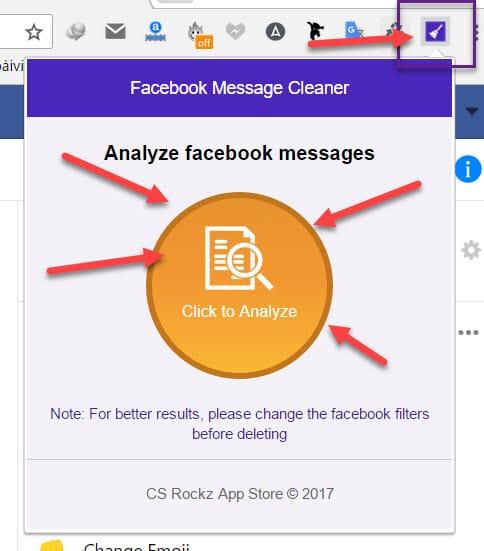 Xóa toàn bộ tin nhắn Facebook bằng 1 cú click 11