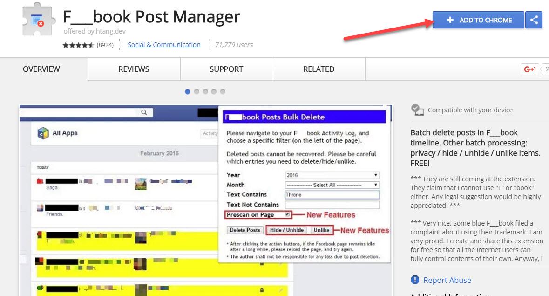 1 4 - Xóa tất cả bài viết trên tường Facebook nhà bạn