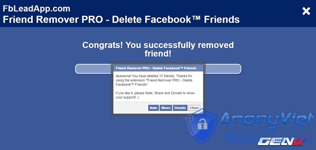 Xóa tất cả bạn bè Facebook trong 2s 36