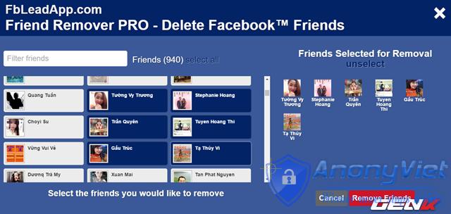 Xóa tất cả bạn bè Facebook trong 2s 31