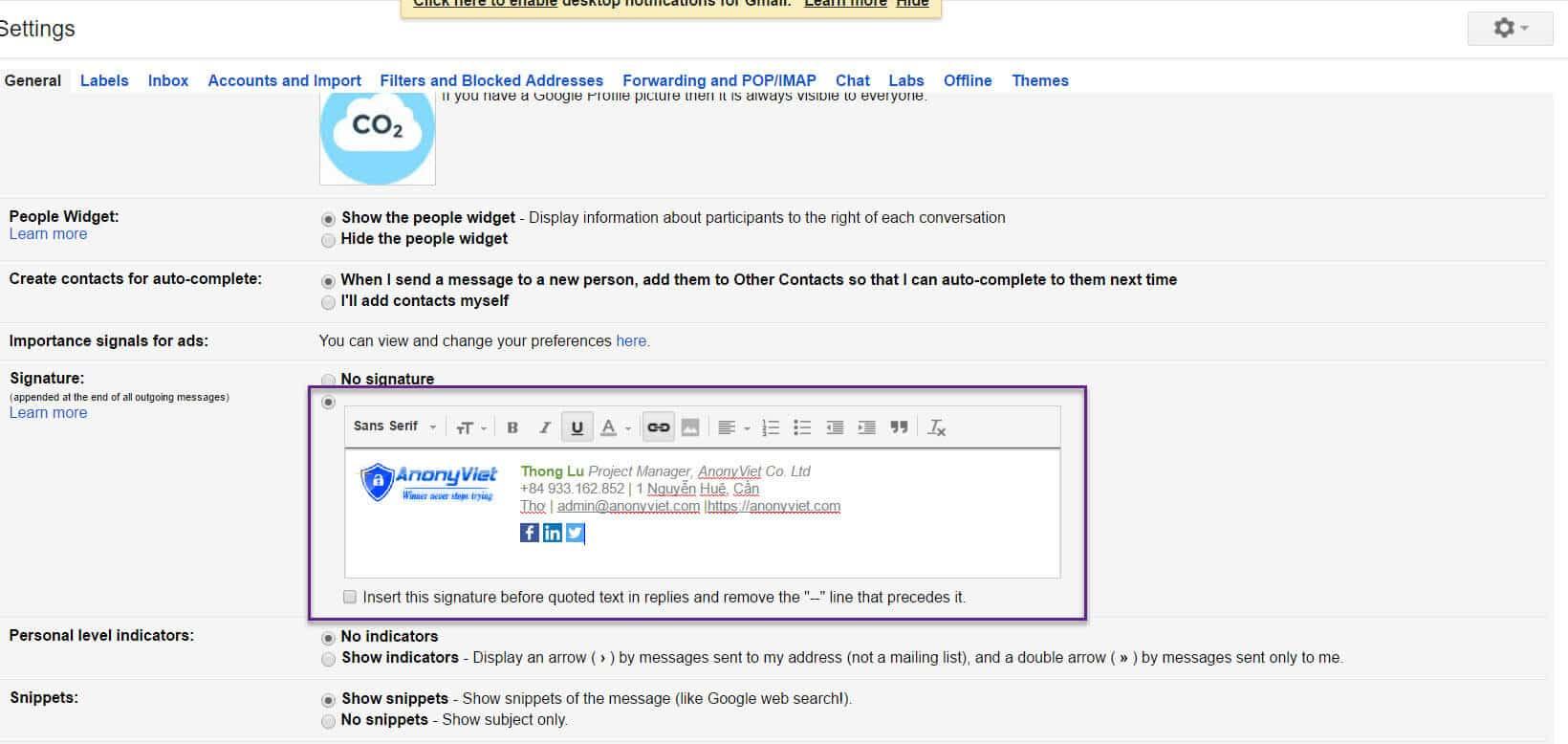 Hướng dẫn tạo chữ ký Email một cách chuyên nghiệp 25